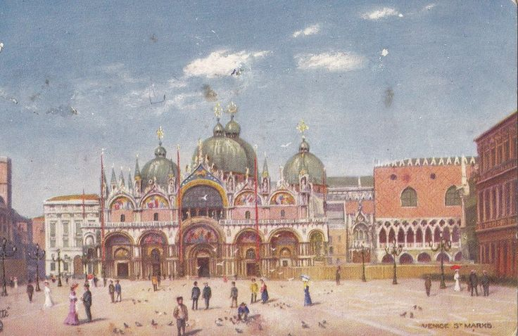 Vintage Postcard~TUCK~ C1906~ST. MARK S~VENICE, SERIES II 7037~ Artist Signed