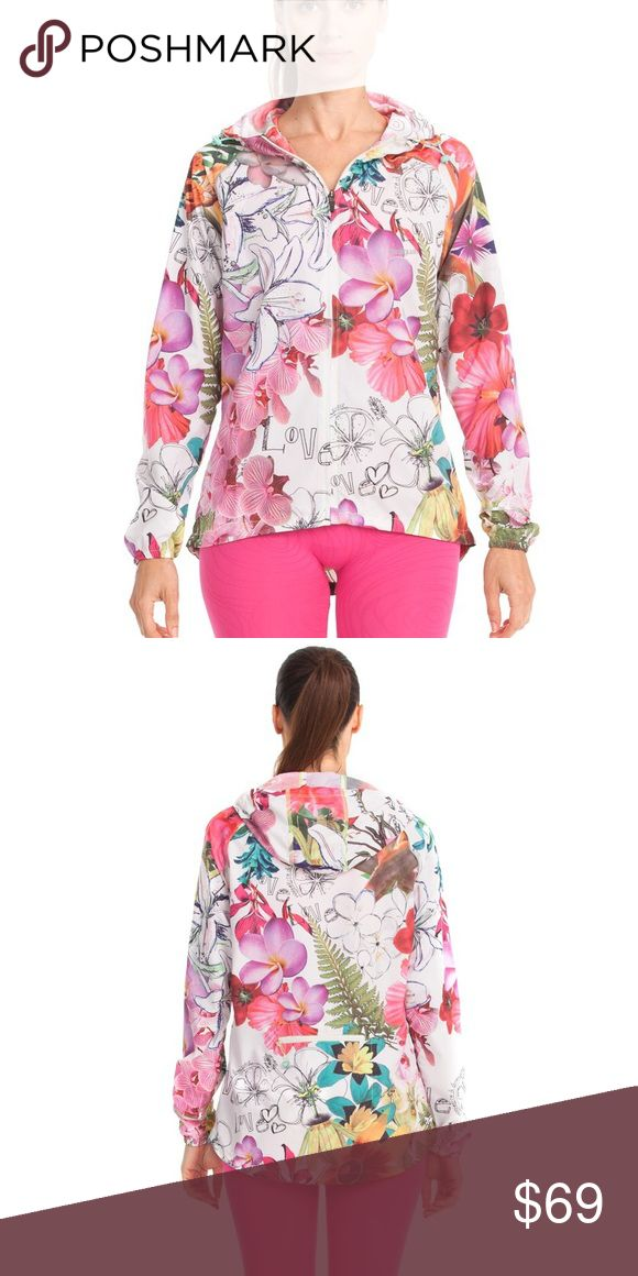 Desigual sport floral sweat jacket size M usa NWT Size M usa . New with tags 100% Polyester Imported Hand Wash Elastic cuffs Nature themed Desigual Jackets & Coats Utility Jackets