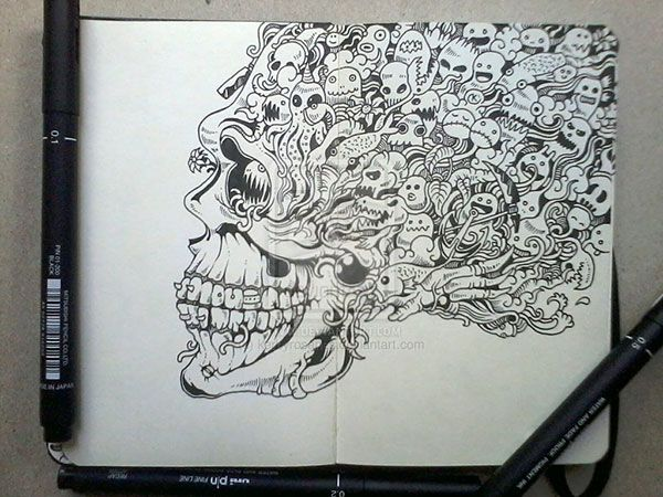 Stunning Moleskine Notebook Art by Kerby Rosanes