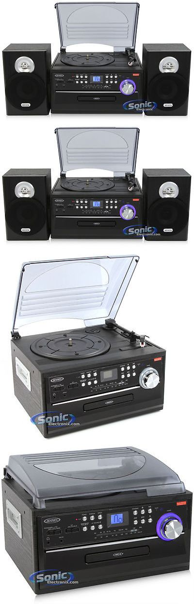 Record Players Home Turntables: Jensen Jta-475 Home Turntable Record Cd Cassette Player Am/Fm Radio Speakers BUY IT NOW ONLY: $89.0