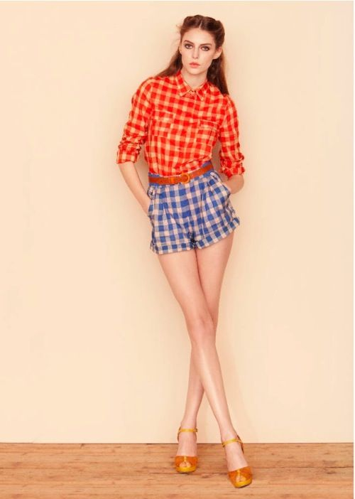 sessun s/s2012: Clothing Hors, Fashion Clothing, Color, Mixed Patterns, Spring Summer, Shorts Style, Mixed Prints, Fashion Poses, Plaid Shorts Dresses