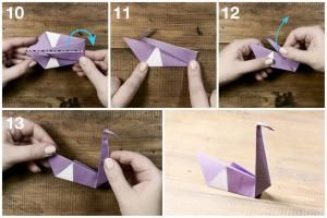 Learn how to fold an Origami Swan with this easy step by step photo tutorial. This origami swan makes a great wedding decoration or chopstick holder.: Easy Origami Swan Tutorial - Final Step!