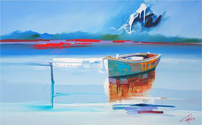 Sky, Water, Boats - Craig Penny Art