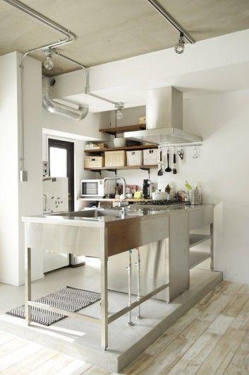 オリジナルステンレスキッチン