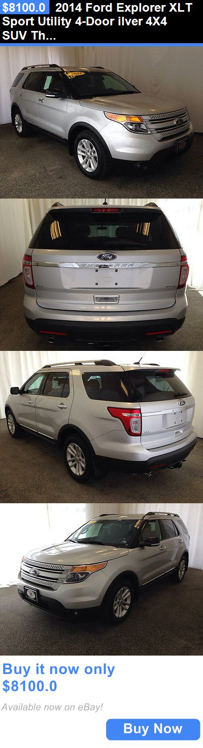 SUVs: 2014 Ford Explorer Xlt Sport Utility 4-Door Ilver 4X4 Suv Third Row Seating Low Mileage Carfax Only One Previous Owner BUY IT NOW ONLY: $8100.0