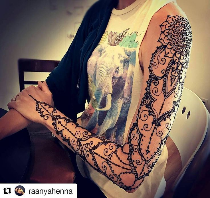 Menna Trend Sees Men Wearing Intricate Henna Tattoos: 25+ Best Ideas About Henna Sleeve On Pinterest