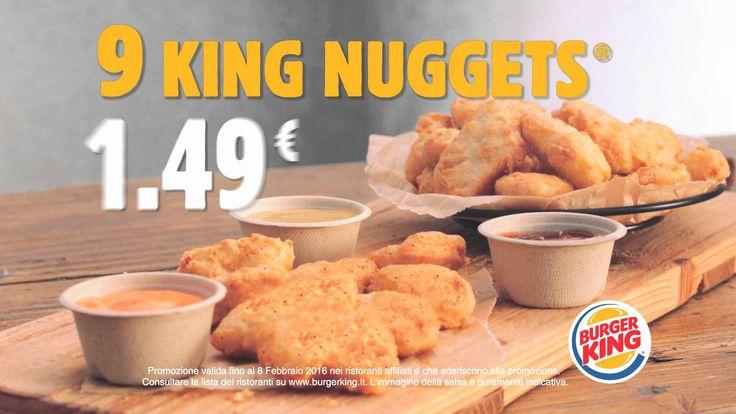 Burger King Italia - 9 King Nuggets a 1,49   Agency: PLAN NET ITALIA Direzione creativa: Stefano Rho