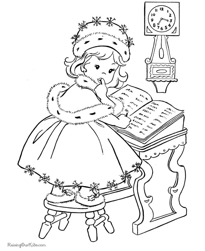 christmas coloring pages on internet - photo#15