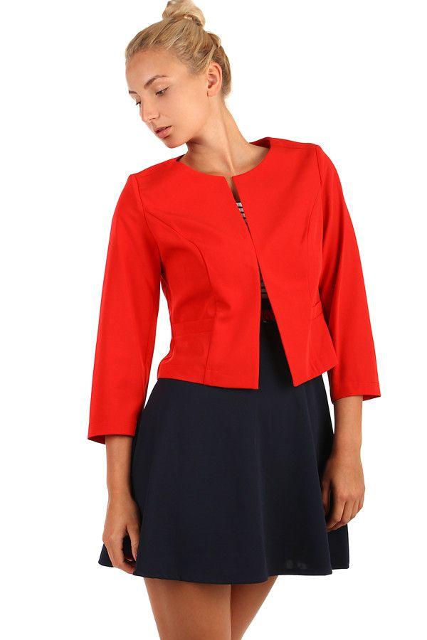 69f1a50815ed Dámské sako s tříčtvrtečními rukávy - i pro plnoštíhlé - koupit online na  Glara.cz  glara  fashion  sako  saka  dámskésako  damskesako