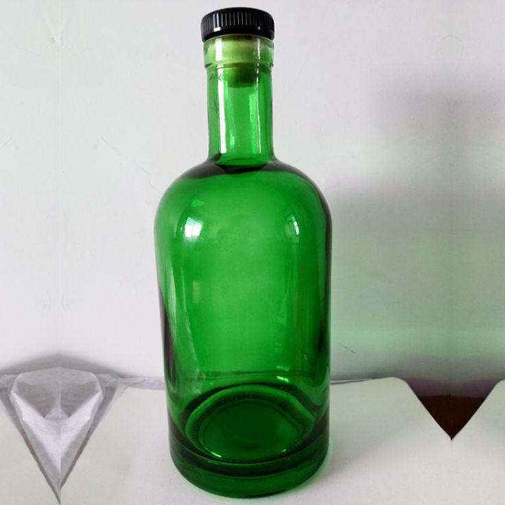 High quality vodka bottles Wholesale alcohol glass frosted blue bottle