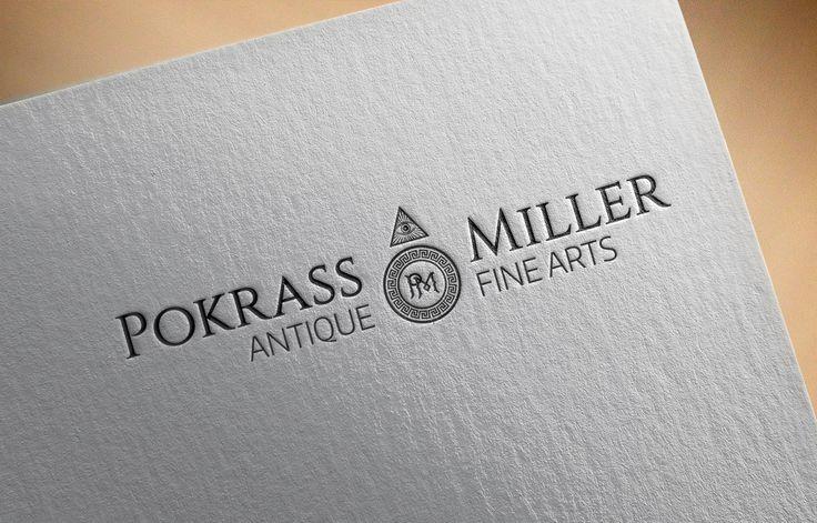 [ Логотип for Pokrass & Miller - антиквариат для любителей высокого искусства ]   Главная задача заключалась в том, чтоб в логотипе была заложена самая важная особенность этих драгоценных предметов - время, которым они богаты.   В основе знака стрелка - обозначение времени, которым покрыты предметы высокого искусства. Наконечник стрелы изображен в виде открытого масонского глаза - означает сокрытую истину. Он символизирует собой первопричину всего сущего, олицетворяет совершенное добро и поб