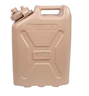 Water Carriers and Jerrycans 181409: Three (3) Skilcraft Bpa-Free 5 Gallon Plastic Military Water Can Desert Sand -> BUY IT NOW ONLY: $120 on eBay!