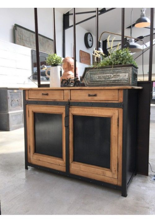 meuble de cuisine style industriel cuisine style industriel dans marseille dco style industriel. Black Bedroom Furniture Sets. Home Design Ideas