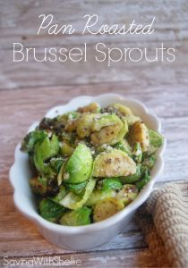 RECIPE: Pan Roasted Brussels Sprouts | Saving with Shellie™