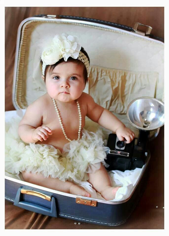 Baby girl vintage style photo shoot photography