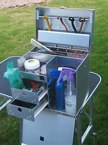 Dog Grooming Tack Box: Aluminum Ringside Dog Show Tack Box