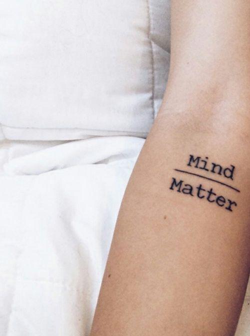 tattoo mind over matter More