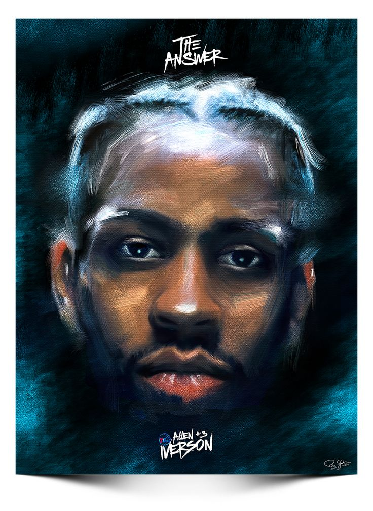 Allen Iverson 'The Answer' Digital Painting