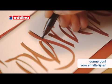 edding kalligrafie - tutorial