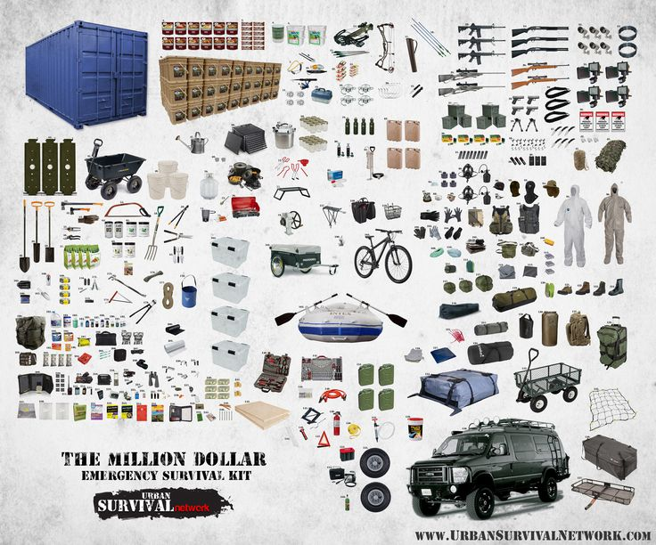 The Million Dollar Survival Kit - Now this is what I call a Survival Kit!  WOW!  Actually only about $100k but still nice.