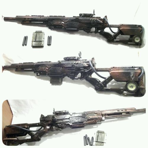 #Steampunk larp #cosplay 3ft long nerf rifle gun working with 4 #bullets free p&p,  View more on the LINK: http://www.zeppy.io/product/gb/2/112238488338/