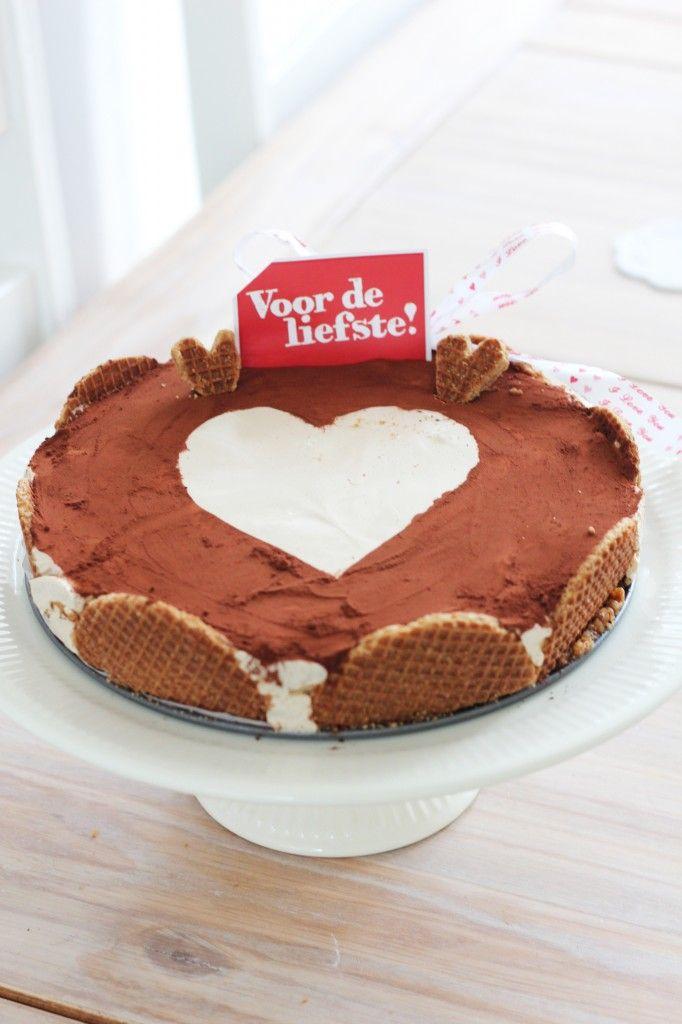 Stroopwafel-Baileystaart; Valentine's edition