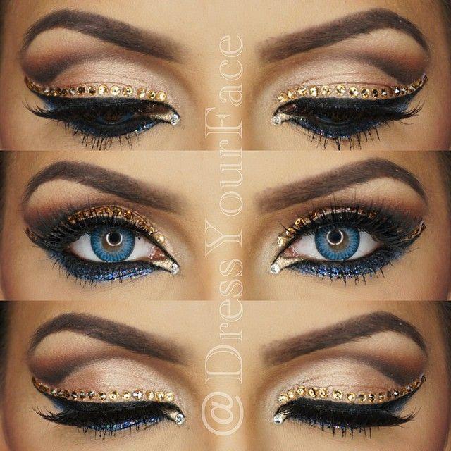 @mua_dasena1876 Movie ... Rave Makeup Rhinestones
