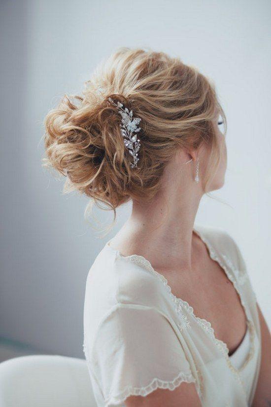 Bridal Headpiece Bridal Hair Pins Bridal Hairpiece Hair Pins for Bride Long Adornment Hair Pins / http://www.deerpearlflowers.com/wedding-hairstyle-with-bridal-headpieces/
