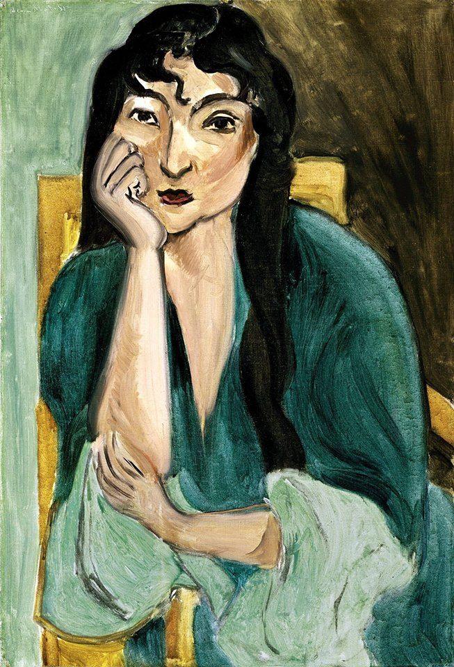 Henri Matisse (1869–1954) Méditation,portrait de Laurette