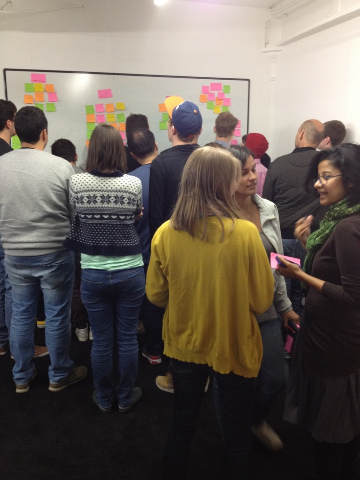 post-it clustering. yum