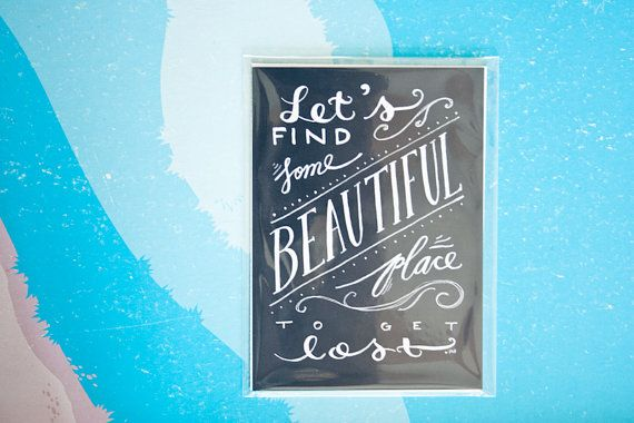 Adventure Quote Travel Quote Vacation Quote Love by heytheredesign, $10.00