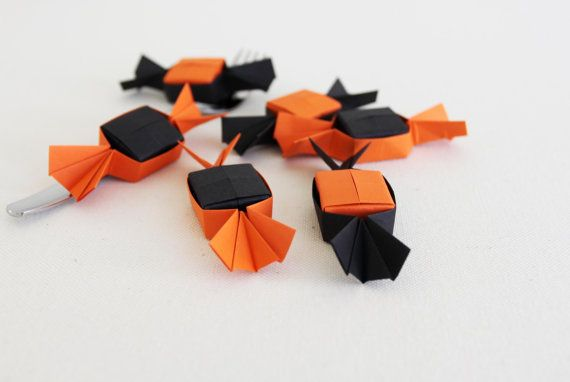 Halloween origami candies . small origami candy shape box by {myCrazyHands.com}