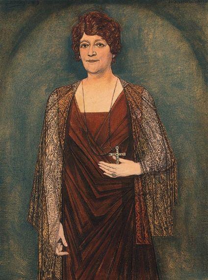Jan Toorop - A portrait of Mrs Knoops-Terhoeven