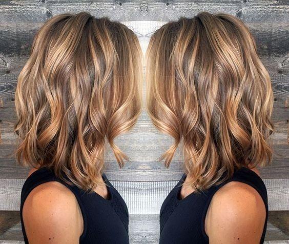 10 mittlere lange Schönheitsfrisuren // #BeautyMittlerer #Frauen #Frisuren # für ...