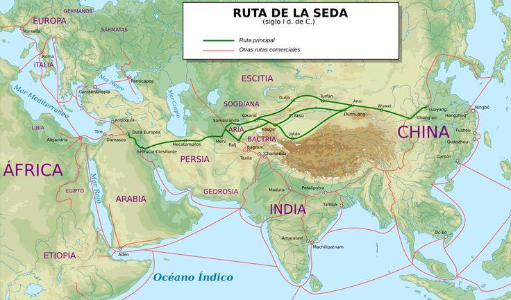 La Ruta de la Seda fue una red de rutas comerciales organizadas a partir del negocio de la seda china desde el siglo I a. C., que se extendía por todo el continente asiático, conectando a China con Mongolia, el subcontinente indio, Persia, Arabia, Siria, Turquía, Europa y África.