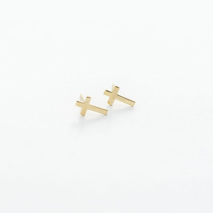 Pendientes de cruz mini