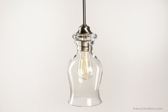 Edison Bulb Pendant Light Fixture  Brushed Nickel by DanCordero, $125.00