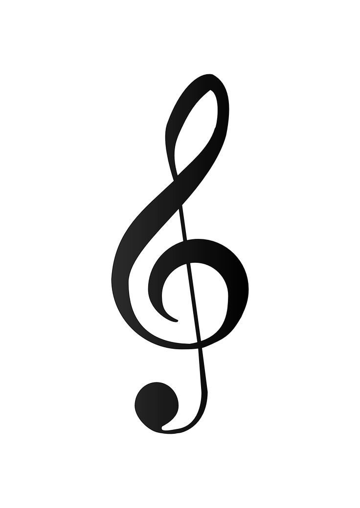 "Treble Clef tattoo behind my right ear. I would like to incorporate an ""S"" into it."