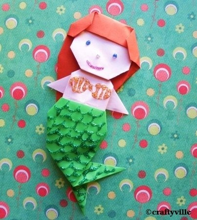 origami mermaid diagrams this is easy origami mermaid for