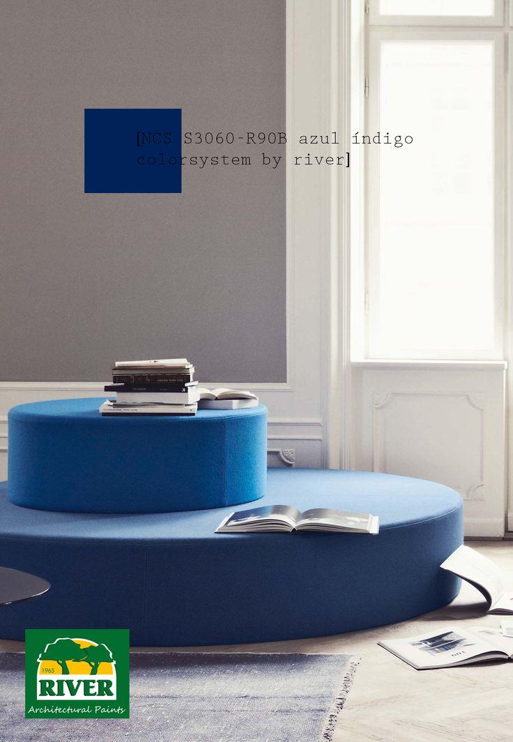 44 mejores im genes sobre tendencias pinturas river - Colores azules para paredes ...