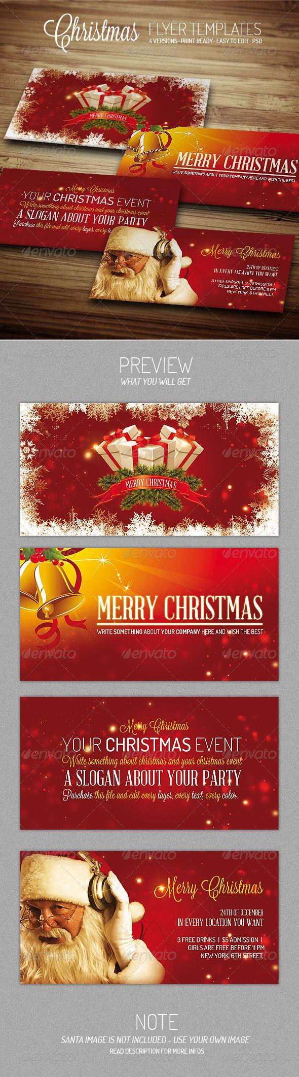 company christmas party invitation templates%0A Christmas III  Flyer Template