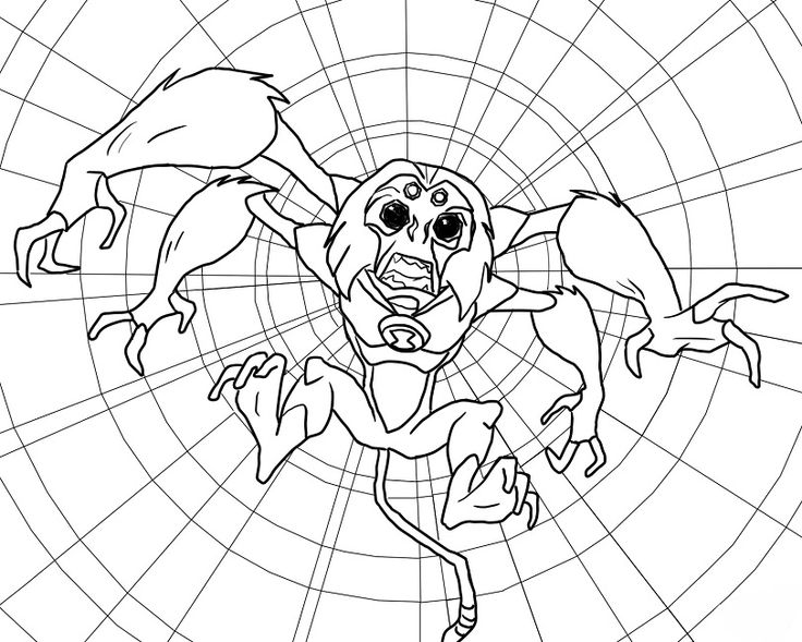 380 best stuff for the boys images on pinterest lord for Spider monkey coloring page