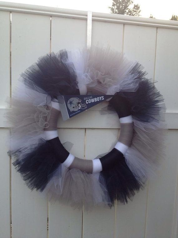 Dallas Cowboys Tulle Wreath or other NFL, MLB, NCAA Teams on Etsy, $28.00