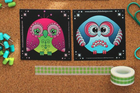 Charming 'Hootermelon' or 'Owliver' Owl Sticker by StationeryBike
