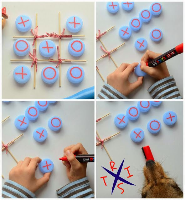 Linfa Creativa: Giochi realizzati con materiale di riciclo: Tris