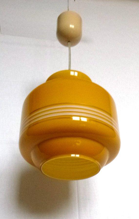 Lampe Hängelampe 60er Jahre Mid century Mustard von BuashkoGarage