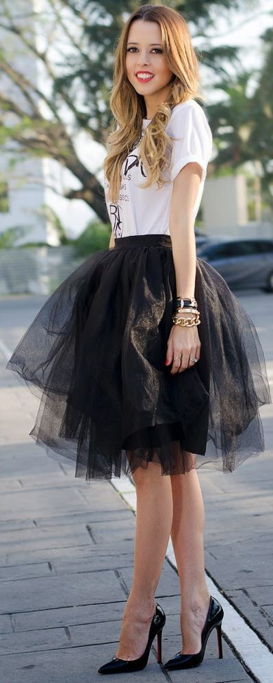 LuXe Loves Tulle • Monica Arguedas Black Tulle Tutu Skirt by Our Favorite Style - lbv - #LadyLuxuryDesigns