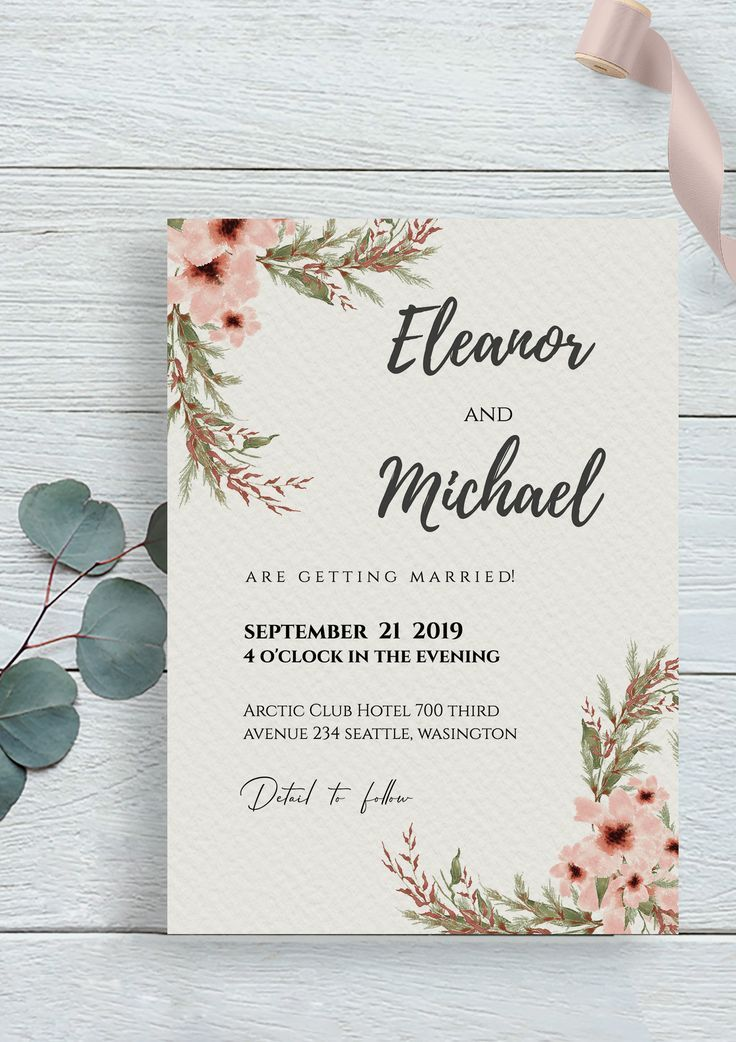 Sweet Wedding Invitation Fully Editable By Templett Com Try Out