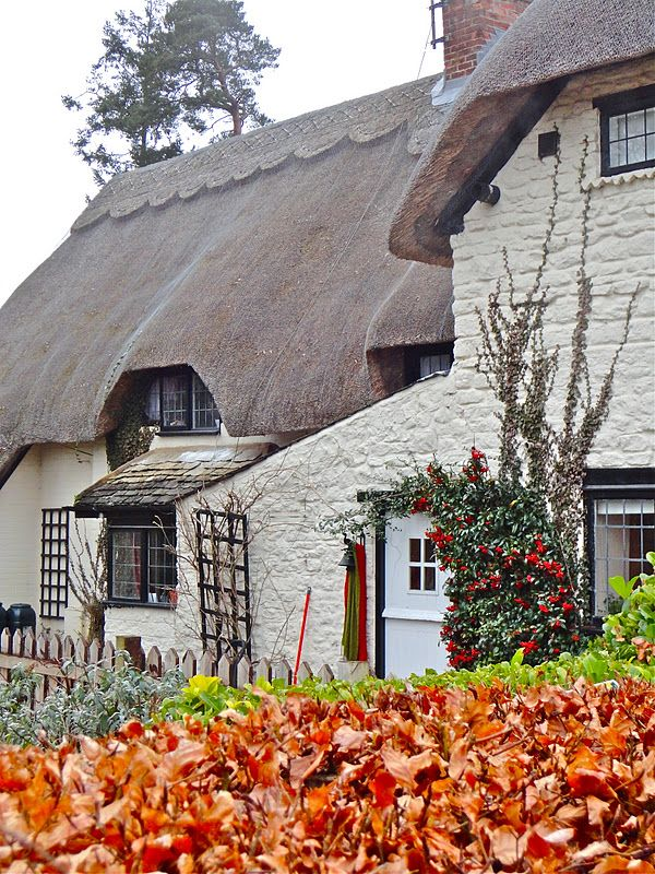 Where Five Valleys Meet: English Thatched Country Cottages and Staddle Stones