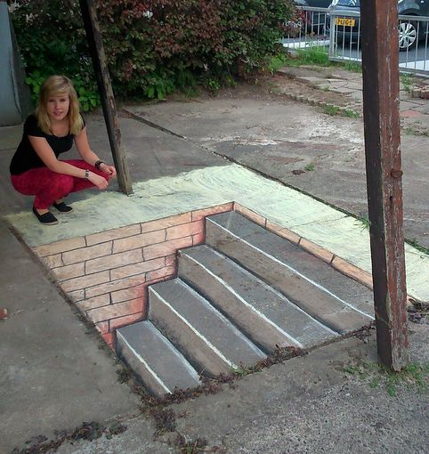 stairs street art 3d by arianne3d on deviantART